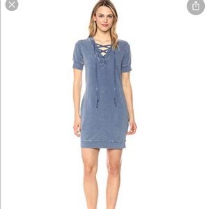 NWT William Rast evie lace up sweatshirt dress